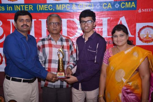 CMA-INTER DEC 2018 ALL INDIA 44TH RANKER B.DINESH KUMAR