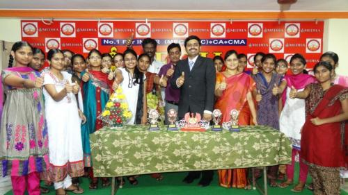 SRI MEDHA DIRECTOR WITH INTER TOP MARKS STUDENTS